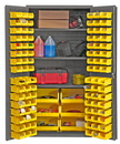 Durham 3501-BDLP-102-3S-95 Cabinets with Hook on Bins and Adjustable Shelves 36