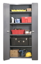 Durham 3952-4S-95 Heavy Duty 14 Gauge Cabinets Space Saving Bi-Fold Door Cabinets