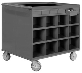 Durham 662-95 2-Sided Mobile Cart/Work Stations
