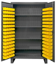 Durham HDC48-120-4S95 12 Gauge Cabinets with Hook-On Bins & Shelves, 24X48X78, 120 Bins