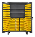 Durham HDC48-134-3S95 12 Gauge Cabinets with Hook-On Bins & Shelves, 24X48X78, 134 Bins