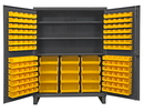 Durham HDC60-156-3S95 12 Gauge Cabinets with Hook-On Bins & Shelves, 24X60X78, 156 Bins