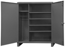Durham HDWC246078-5S95 12 Gauge Wardrobe Cabinet with or without Drawers, 24X60X78, 5 Shelves
