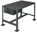 Durham MTD243618-2K195 Medium Duty Machine Tables With Drawer and Top Shelf Only, 24X36X18