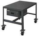 Durham MTDM243624-2K195 Mobile Medium Duty Machine Tables with Drawer & Top Shelf Only, 24X36X24