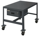 Durham MTDM243630-2K195 Mobile Medium Duty Machine Tables with Drawer & Top Shelf Only, 24X36X30