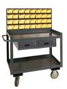 Durham RSC-2436-2-LP-2DR-32B-95 Mobile Work Stations, 2 Shelves, 24X36