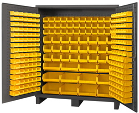 "Durham SSC-722484-BDLP-264-95 Cabinets with Hook on Bins 72"" Wide"