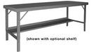 Durham WBF-36120-95 Folding Leg Work Bench With Steel Top