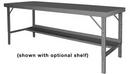 Durham WBF-3660-95 Folding Leg Work Bench With Steel Top