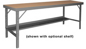 Durham WBF-TH-3096-95 Folding Leg Work Bench With Tempered Hard Board Over Steel Top