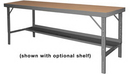 Durham WBF-TH-3672-95 Folding Leg Work Bench With Tempered Hard Board Over Steel Top
