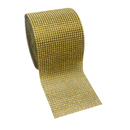 "Aspire Gold Diamond Rhinestone Ribbon Wrap BULK 30 Rows 6"" x 10 Yards - Wedding Decorations, Party Supplies"