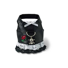 Doggles Harness Dress - Biker - Black - Small