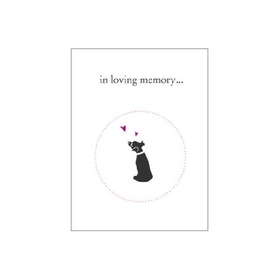 Luxepets In Loving Memory, Dog Sympathy Cards - 4 Per Pack