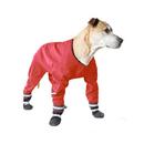 Muttluks Four Legged Dog Jog Rainsuit - Red, 12, 493DN-12-R
