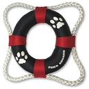 Paws Aboard Life Ring Toy - Red/Blue