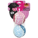 Tuffy'S Silly Squeaky -Flower Ball Large 2 Pack