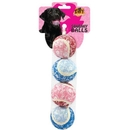 Tuffy'S Silly Squeaky -Flower Ball Small 4 Pack