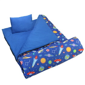 Wildkin 17077 Olive Kids Out of This World Sleeping Bag, Blue