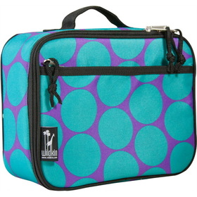Wildkin 33119 Big Dots Aqua Lunch Box, Blue