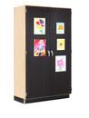 Diversified Woodcrafts 359-4822M Canvas Door Display Cabinet