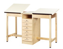 Diversified Woodcrafts DTA-21A 2 Station Art/Drafting Table - Adjustable
