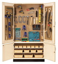 Diversified Woodcrafts TETC-40WT All Purpose / Tech-Ed Tool Storage Cabinet With Tools