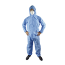Aspire Pack of 6 Non-Woven Anti Spray Disposable Coveralls with Hood Antidust Protective Lab Coats