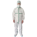 Aspire Pack of 6 Disposable Coveralls with Hood and Protective Stripe Nonwoven Dustproof Lab Coats