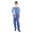 Aspire Pack of 6 Twinset Disposable Coveralls Short Sleeve Non Woven Waterproof Scrub with Pockets