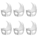 Aspire Bulk Pack of 6 DIY Masks Craft Paper Halloween Masquerade Face Mask Decorating Party Costume