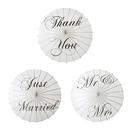 Aspire White Wedding Paper Parasol Umbrella Wedding Party Decoration Bridal Showers Photo Shoots