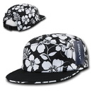 Decky 1070 Solid Bill Floral Racer Caps