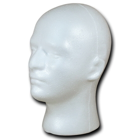 Decky 1999-WHT Styrofoam Actual Men's Sized Heads