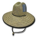 Decky 528-Natural - Mat Straw Lifeguard Hat