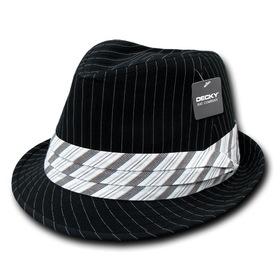Decky 556 - Pinstripe Fedora Hat