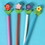 GOGO Flower and Grass Topper Craft Pencils, Stationery Gift for Kids, Christmas Gift Idea