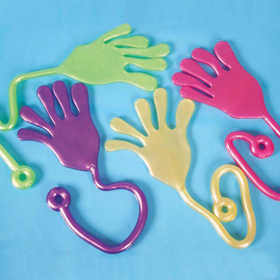 GOGO Glitter Giant Sticky Hands, Toy Gift for Kids, Christmas Gift Idea, Price/ONE DOZEN