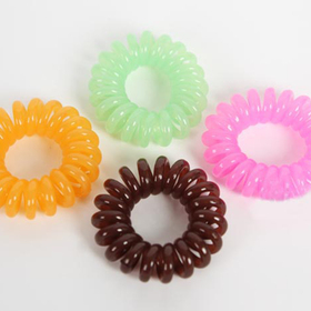 GOGO Neon Coil Ponytail Holders, Price/PACK