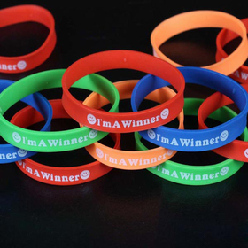 GOGO I AM A WINNER Silicone Bracelets, Accessories for Kids, Christmas Gift, Price/ONE DOZEN