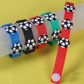 GOGO Soccer Rubber Bracelets, Accessories for Kids, Christmas Gift, Price/ONE DOZEN
