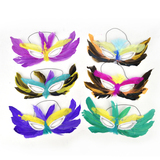 FIC Mardi Gras Feather Masks