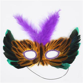 GOGO Feather Half Masks, Price/ONE DOZEN