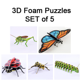 GOGO Insect 3D Foam Puzzle Set, Christmas Gift Idea