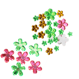 GOGO Flower Adhesive Jewel 26 PCS, Christmas Gift
