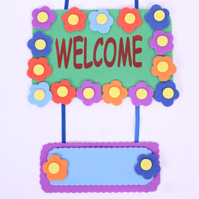 GOGO Design Your Own! Foam Door Hanger Decoration - Welcome, Decorate Your Home, Price/12 SETS