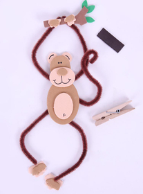 GOGO Design Your Own! Foam Wall Hanger Decoration - Monkey, Christmas Gift, Price/12 SETS