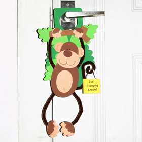 GOGO Design Your Own! Foam Door Hanger Decoration - Monkey, Price/12 SETS