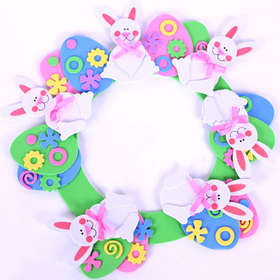 GOGO Design Your Own! Foam Wall Hanger Decoration - Rabbit, Christmas Gift Idea, Price/12 SETS
